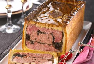 photo du produit de Noël Pâté en croûte de filet de  canard aux figues ( en tranches)