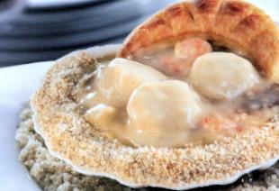 photo du produit de Noël Cassolette de ris de veau croustillant aux morilles