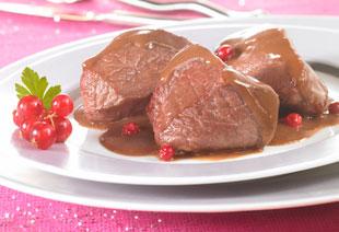 photo du produit de Noël Joues de loup de mer sauce Champagne aux pleurotes.     (la part)
