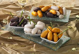 photo du produit de Noël Mini boudins cocktail : blancs , noirs , Francfort